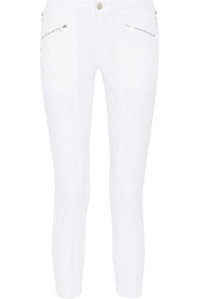 J.BRAND white stretch cotton twill skinny pants