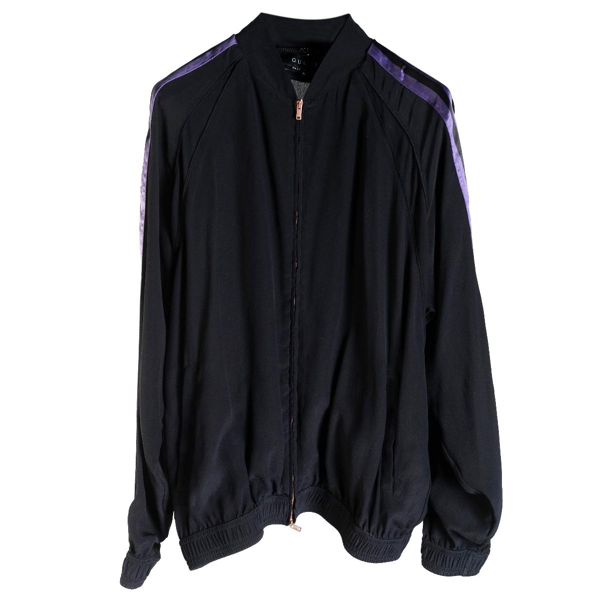 1dacb3c1c Gucci Black Silk Bomber Jacket | HEWI London