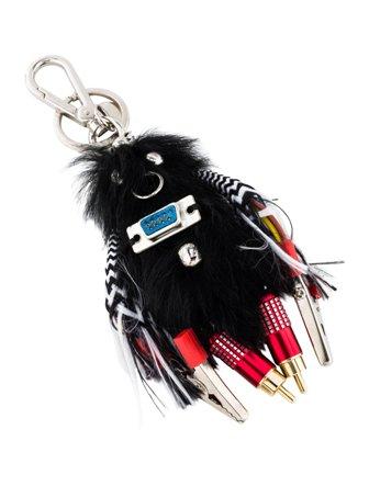 Prada Rufus Fur Keychain Trick 3WDlcKMQxn