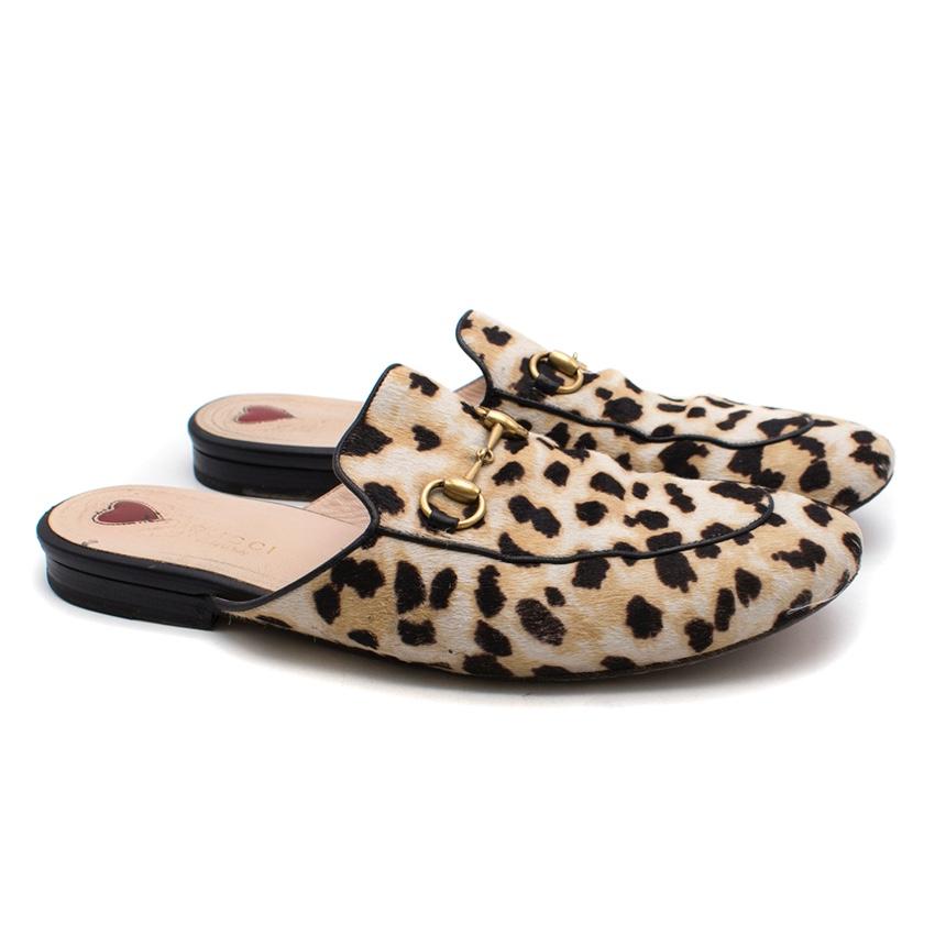 ae0caf202458 Gucci Princetown Leopard Calf Hair Slipper | HEWI London