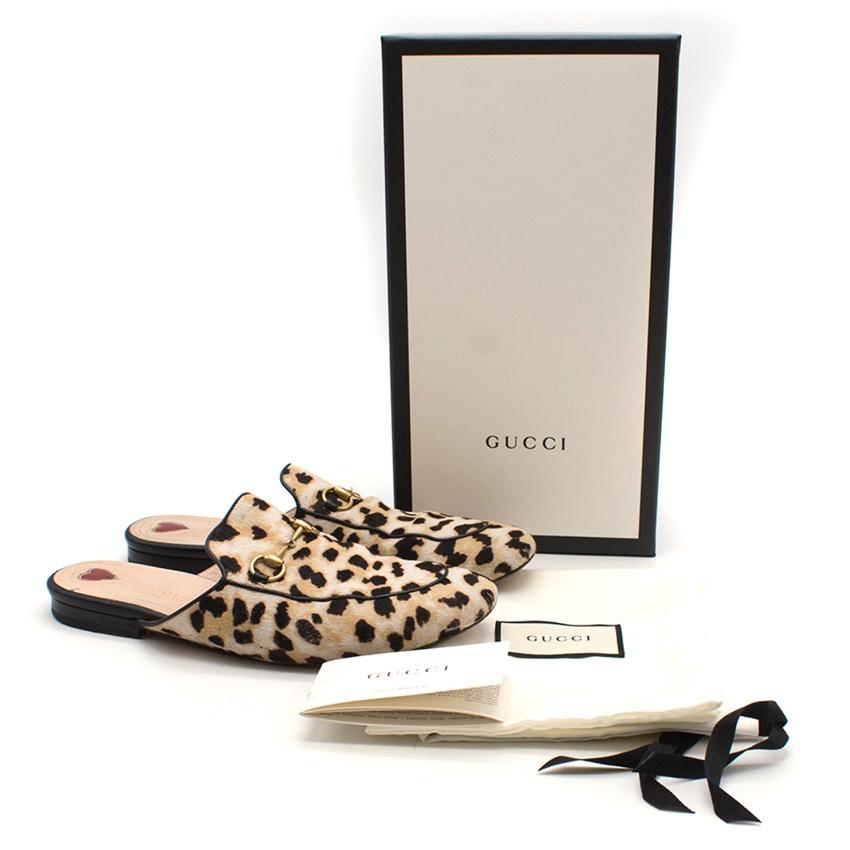 5896223dbb64 Gucci Princetown leopard calf hair slipper. 29. 12345678