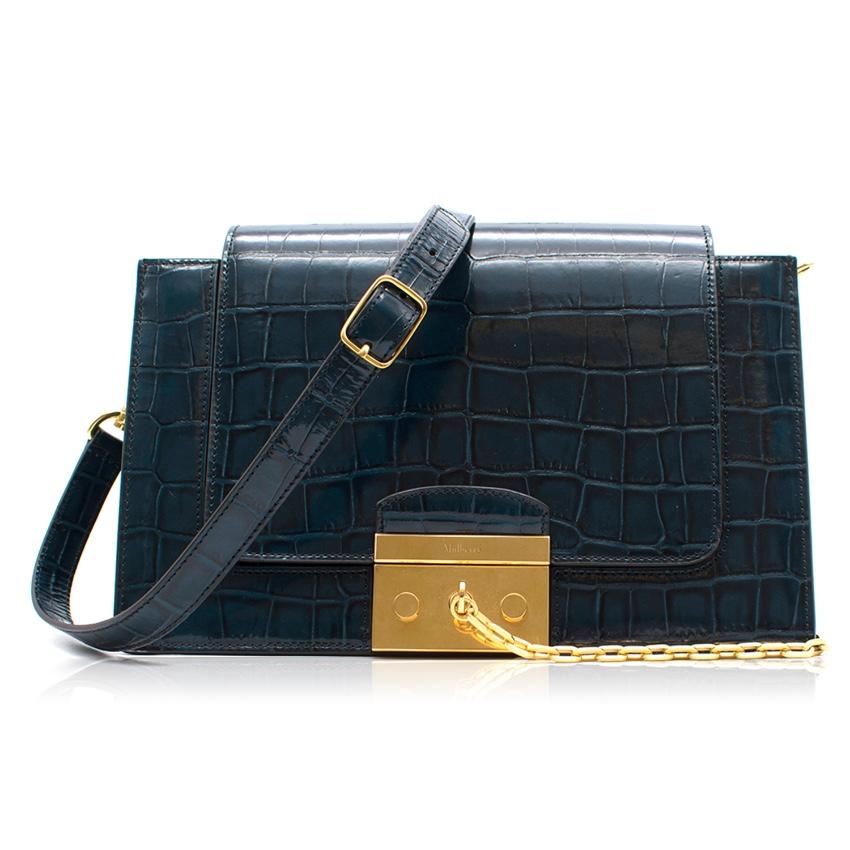 f514f76ed4 Mulberry Croc Print Pembroke Bag   HEWI London