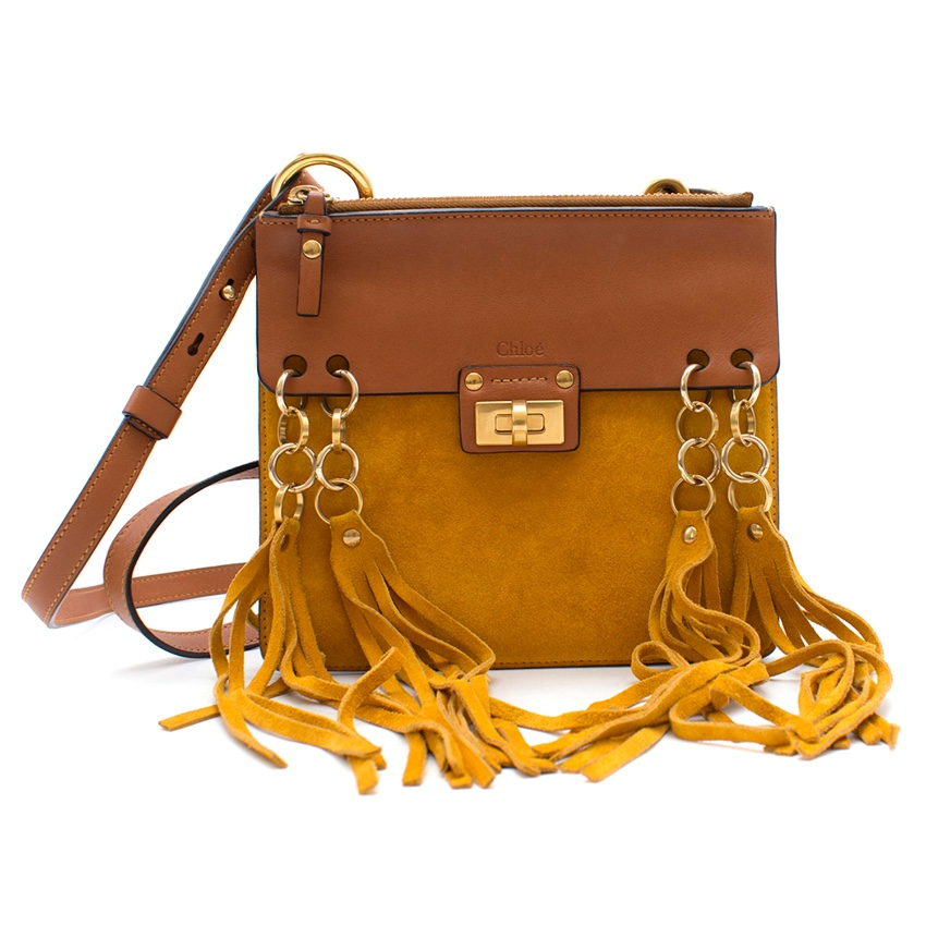 Chloe Jane small leather and suede shoulder bag