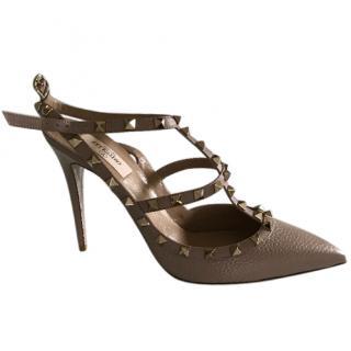 Valentino Nude Rockstud Sandals