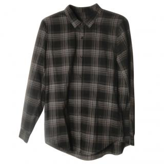 The Kooples grey plaid cotton shirt