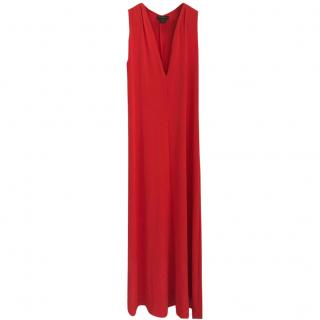 Donna Karen Red Evening Gown