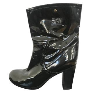See by Chloe patent leather boots
