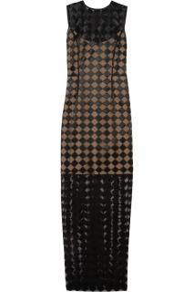 Jonathan Saunders Molly Hazard Embroidery Column Gown Dress