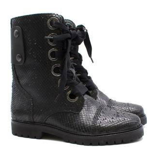 Zadig & Voltaire 'Joe Keith' Python Embossed Ankle Boots