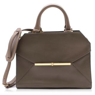Tory Burch taupe leather satchel