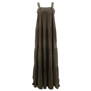 Adriana Degreas green maxi dress