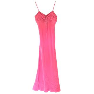 Christian Dior Ruched-Bust Pink Dress