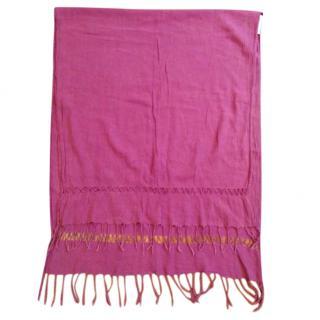 Isabel Marant Etoile pink fringed scarf