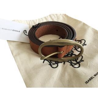 Isabel Marant Etoile tan leather belt