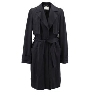 Hugo Boss black wool blend trench coat