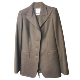Hermes Dark Brown Wool Trouser Suit