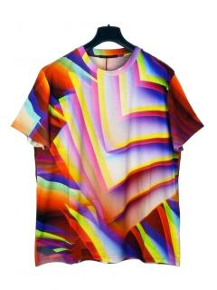 Christopher Kane gradient pages multicolour T-shirt