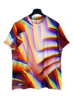 Christopher Kane gradient pages multicolour T-shirt