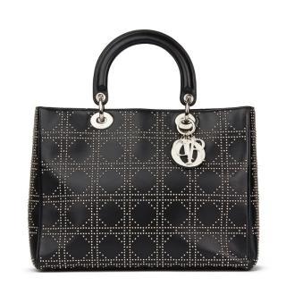 Christian Dior Large Studded Diorissimo Bag