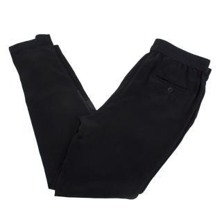 Philip Lim black silk sweatpants
