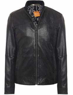 Hugo Boss Jips 4 Leather Cafe Racer Biker Jacket