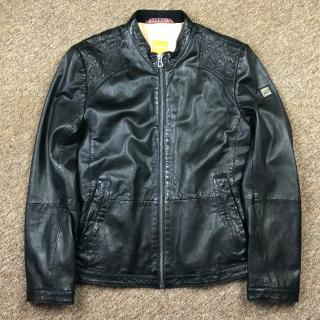 Hugo Boss Jips 7 Leather Cafe Racer Biker Jacket