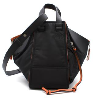Loewe black leather hammock bomber bag