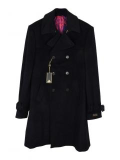 William Hunt Savile Row wool blend with cashmere black coat
