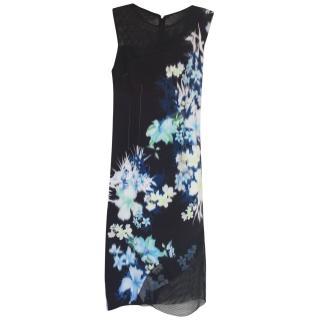 Elie Tahari Floral Sheath Midi Dress