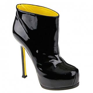 Yves Saint Laurent Trip Too patent leather ankle boots
