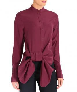 'Victoria' Victoria Beckham silk bow shirt UK 8