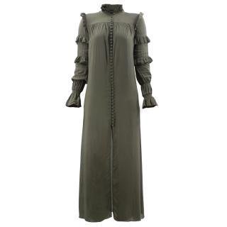 Adriana Degreas green long-sleeved dress