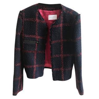 Sandro tweed checked blazer UK 8