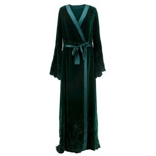 I.D Sarrieri Embroidered Velvet Robe