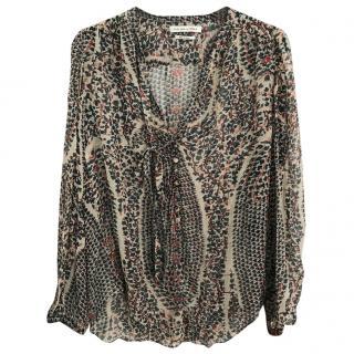Isabel Marant silk printed shirt UK 8
