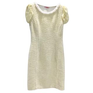 Blumarine Lemon Boucle Shift Dress