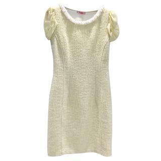 Blumarine Lemon Boucle Shift Dress