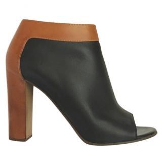 Chloe colour block peep-toe ankle boots