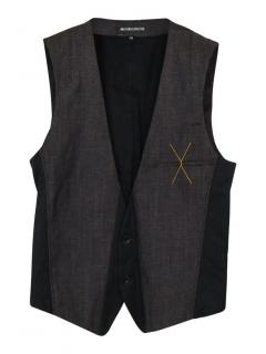Ann Demeulemeester fleece wool waistcoat