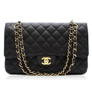 Chanel classic caviar leather medium double flap bag