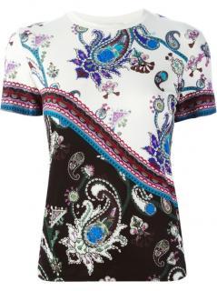 MARY KATRANTZOU white & black printed jersey t-shirt