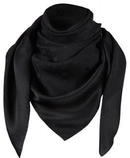 Louis Vuitton black silk Monaco Square scarf