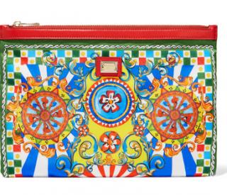 Dolce & Gabbana carreto printed twill clutch