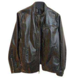 John Varvatos Black Lambskin Jacket