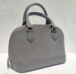 Hidetoshi grey stingray handbag
