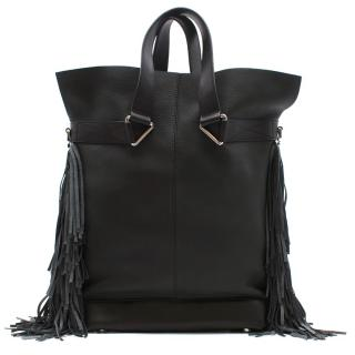 Max V. Koenig Aquila black leather tote bag