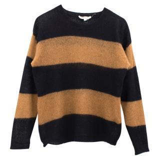 Isabel Marant Etoile black wool blend striped jumper