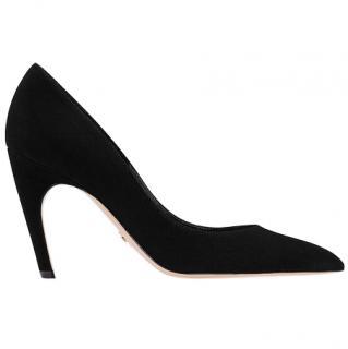 Dior D-Choc High Heeled black suede Pumps