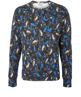 Acne Terrazzo college print sweatshirt