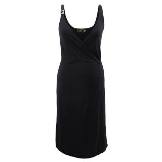 Fendi black wrap dress